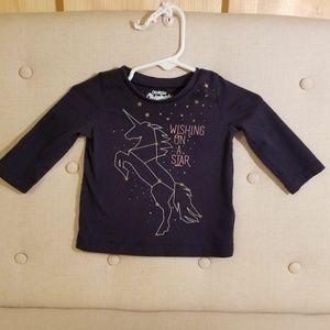 Oshkosh long sleeve unicorn top